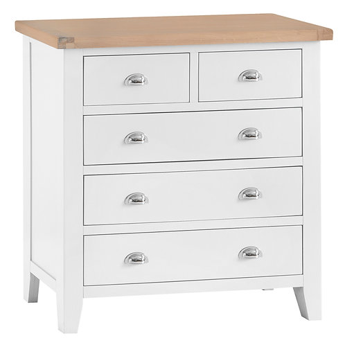 DORSET WHITE  PAINTED COLLECTION 2OVER 3 STD CHEST