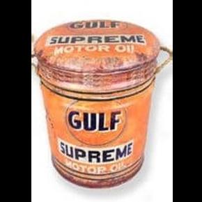 GULF motor oil small stool/bin