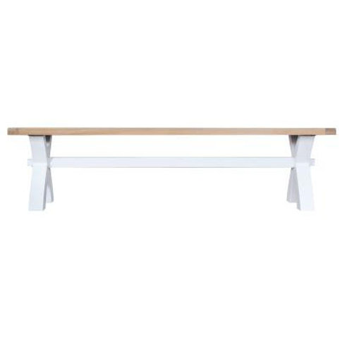 DORSET WHITE  COLLECTION SMALL CROSS BENCH
