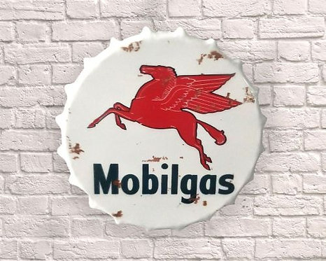 large mobil gas bottle top wall art