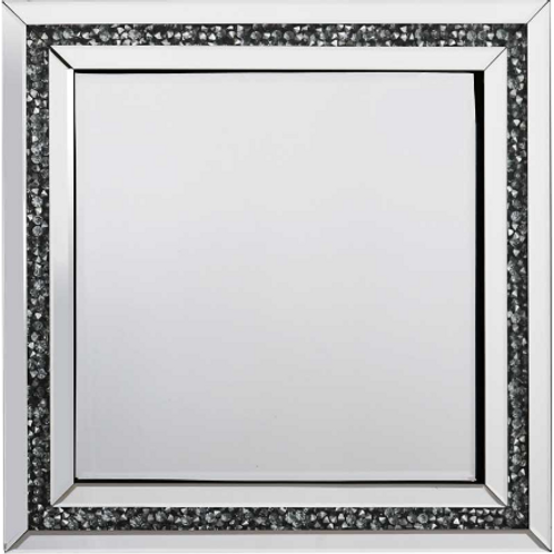 Crushed Glass Crystal Mirrored Edge Mirror  60cm x 60cm