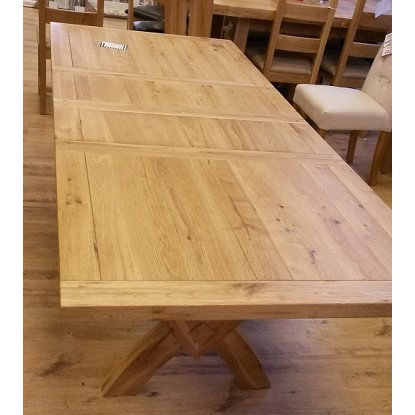 FRENCH OAK SMALL OX BOW TABLE