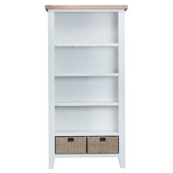 DOREST WHITE LARGE BOOKCASE