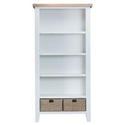 DOREST WHITE LARGE BOOKCASE
