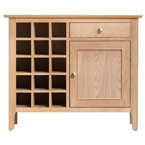 New Bromley Oak Wine Cabinet