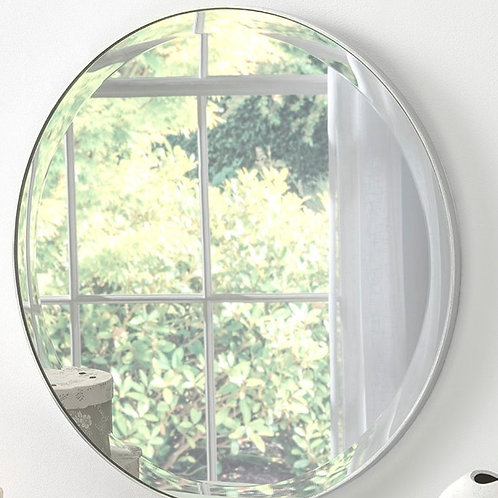 ROUND ALL GLASS MIRROR 50CM DIA