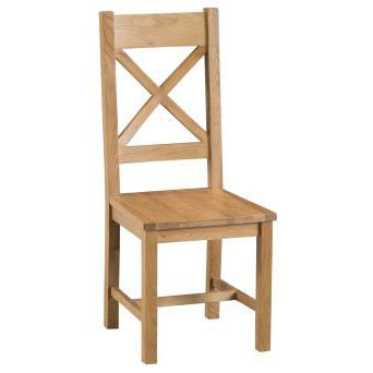 NEW BROMLEY CROSS BACK CHAIR WOODEN SEAT