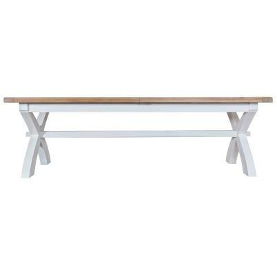 DORSET WHITE  COLLECTION 2.5 CROSS EXTENDING TABLE