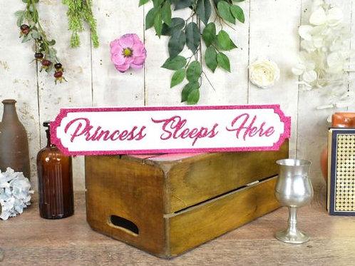 mini sign princess sleeps here