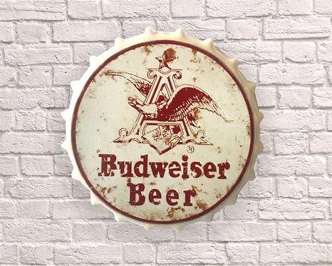 Small budweiser  Vintage Bottle Top Wall Art