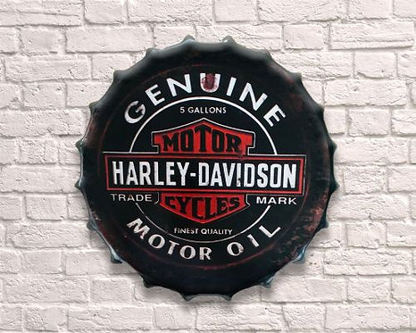 small harley davidson  bottle top wall art