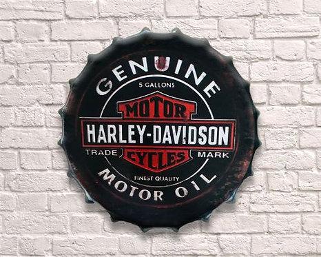 large bottle top harley davidson  wall art