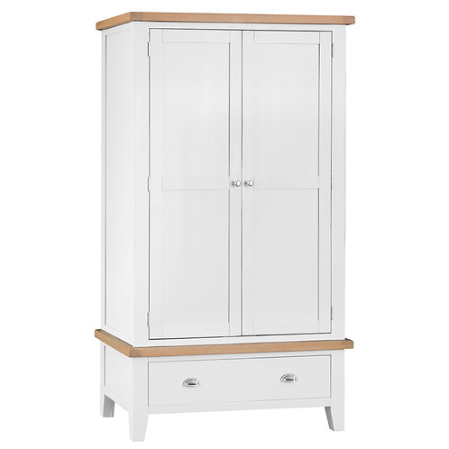 DORSET WHITE 2 DOOR 1 DRAWER WARDROBE