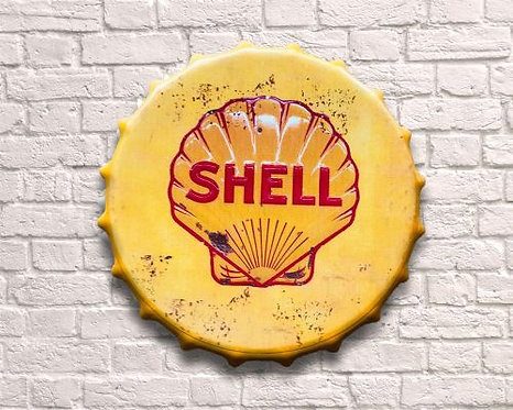 large shell bottle top wall art