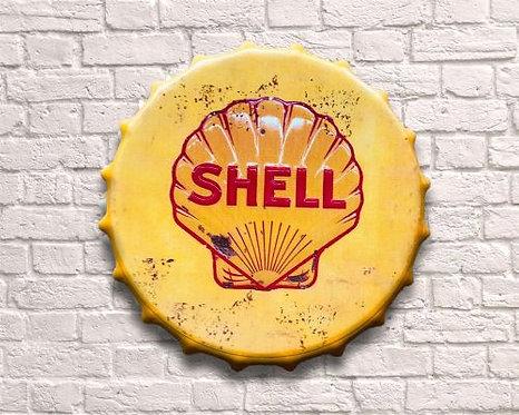 small bottle top shell wall art