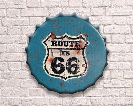small bottle top route 66 wall art