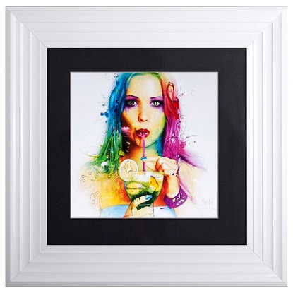 LIQUID ART SALSA WHITE  FRAME 55 X 55CM