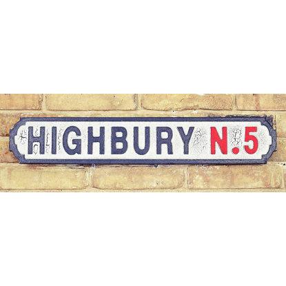 VINTAGE SIGN HIGHBURY N.5