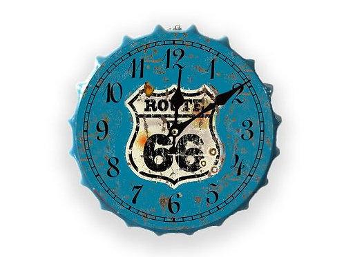route 66 bottle top clock