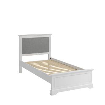 WHITE / GREY BROMPTON 3FT BED FRAME