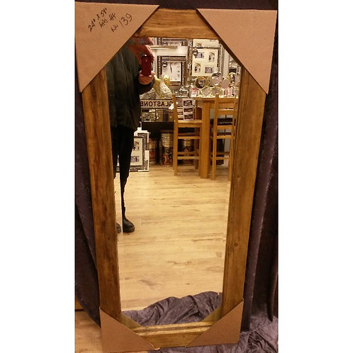 RECLAIMED  TIMBER  MIRROR 61 X 137 CM
