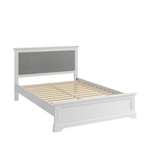 WHITE  BROMPTON 5FT BED FRAME