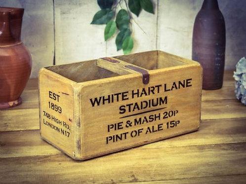 WOODEN BOX WHITE HART LANE