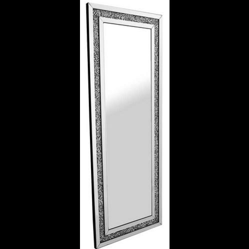 Crushed Glass Crystal Mirrored Edge Mirror 170cm x 80cm