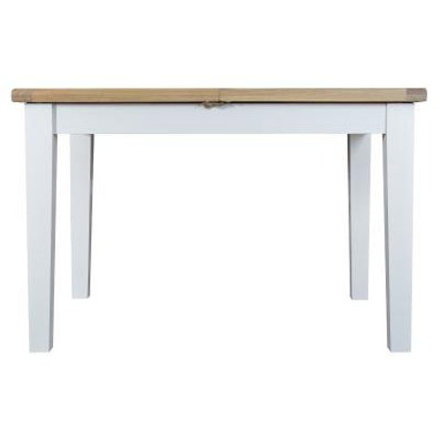 DORSET WHITE  COLLECTION BUTTERFLY EXTENDING TABLE