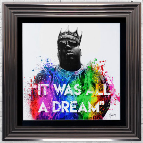 LIQUID ART IT WAS ALL A  DREAM MET  FRAME 75 X 75CM