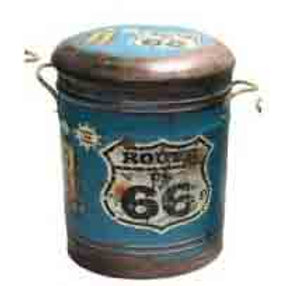 STOOL/BIN ROUTE 66 MED
