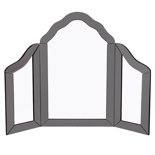 smoked glass dressing table mirror