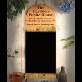 THE GARRISON PUBIC HOUSE BLACK BOARD
