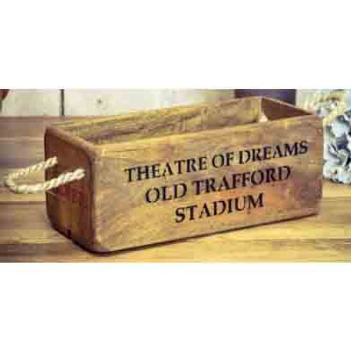 WOODEN BOX SMALL OLD TRAFFORD