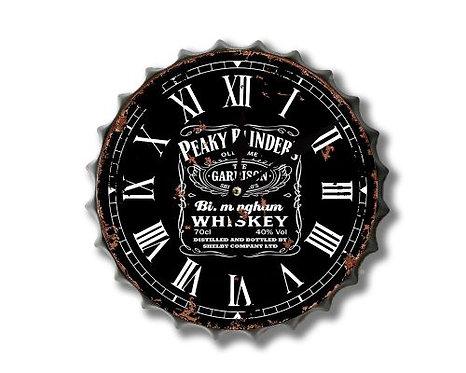 peaky blinders bottle top clock