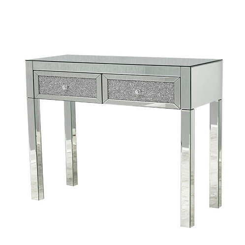 Crushed glass Console /dressing table