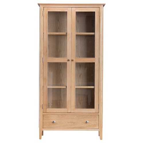 New Bromley Oak Display Cabinet With Lights