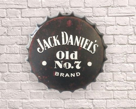 small jack daniels old no 7 bottle top wall art