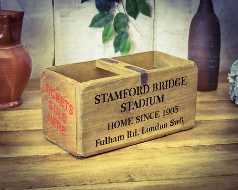 WOODEN BOX  STAMFORD BRIDGE
