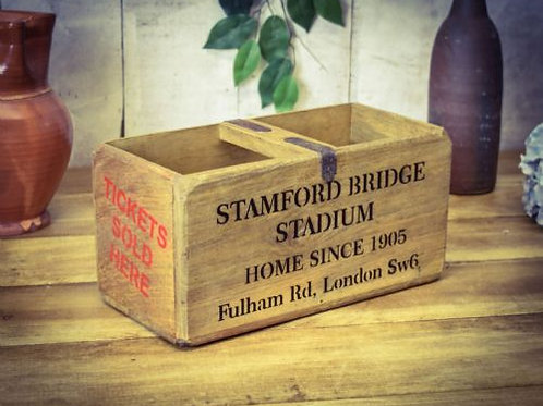 WOODEN BOX  STAMFORD BRIDGE