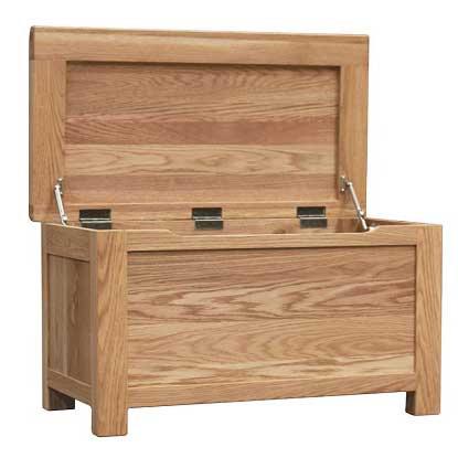 HENLEY RUSTIC  OAK  BLANKET BOX