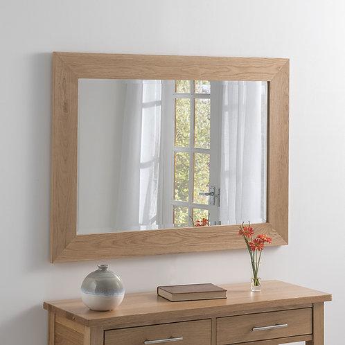Solid Oak mirror 68 x 93.98cm
