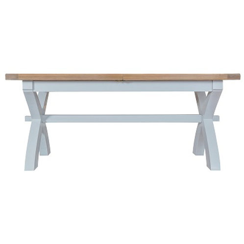 DORSET GREY PAINTED RANGE CROSS LEG EXTENDING TABLE