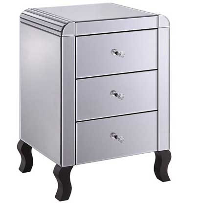 Art Deco 3 Drawer Bedside Cabinet