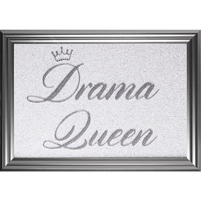 LIQUID ART  DRAMA QUEEN SILVER FRAME 69 X 49 CM