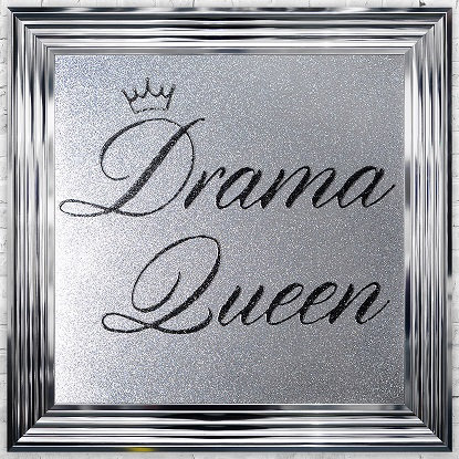 LIQUID ART DRAMA QUEEN CHROME  FRAME 75 X 75CM