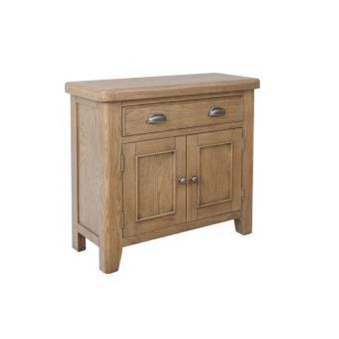 country oak 1 drawer 2 door sideboard