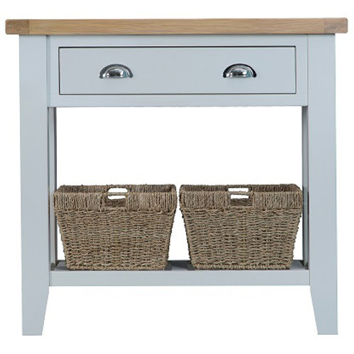 DORSET GREY PAINTED RANGE MED CONSOLE TABLE