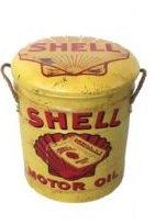shell stool/bin small