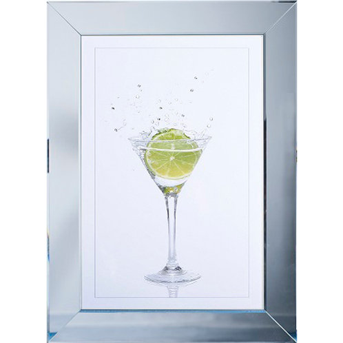 LIQUID ART LIME MARTINA GLASS MIRROR  FRAME 54 X 74CM
